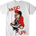 Music Life T-Shirt  Graffiti Art (White) S/M/L